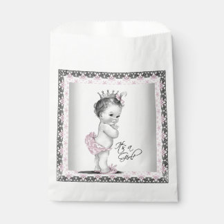 Vintage Princess Baby Shower Favour Bags