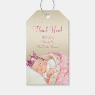 Vintage Princess Baby Shower Gift Tags