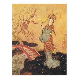 Vintage Princess Badoura Fairy Tale, Edmund Dulac Postcard