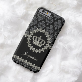 Vintage Princess Damask Crown Barely There iPhone 6 Case
