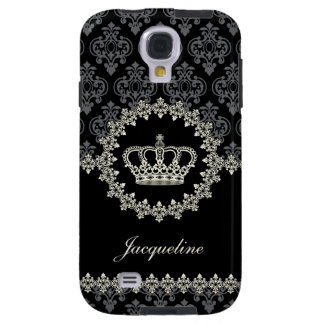 Vintage Princess Damask Crown Galaxy S4 Case