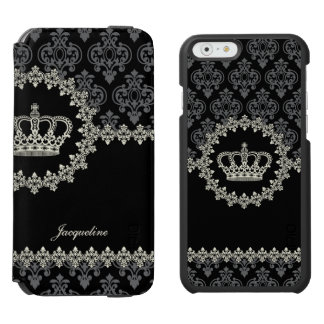 Vintage Princess Damask Crown Incipio Watson™ iPhone 6 Wallet Case