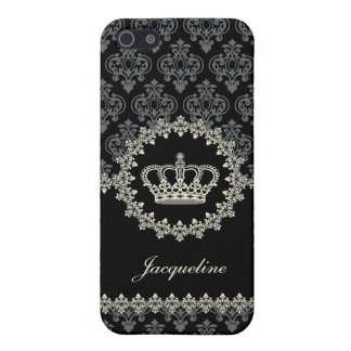 Vintage Princess Damask Crown iPhone 5 Case