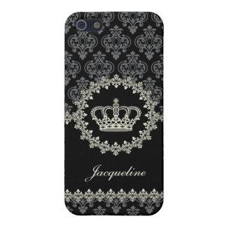 Vintage Princess Damask Crown iPhone 5 Case