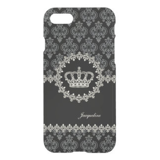 Vintage Princess Damask Crown iPhone 7 Case