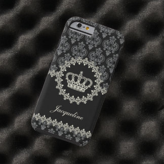 Vintage Princess Damask Crown Tough iPhone 6 Case