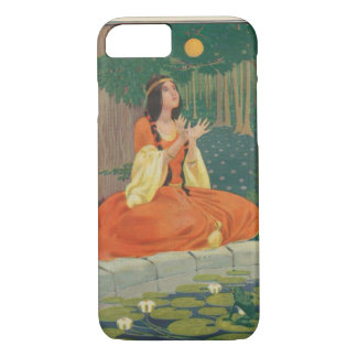 Vintage Princess Playing with Golden Ball iPhone 7 Case