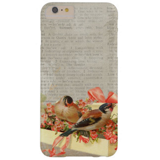 Vintage Print Birds Ribbon iPhone Case