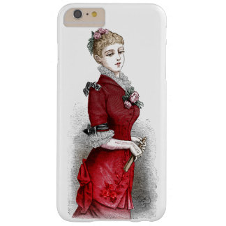 Vintage print: Lady in evening dress, circa 1880 Barely There iPhone 6 Plus Case
