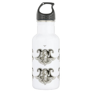 vintage print mermaid water bottle
