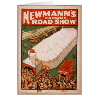 Vintage Print Of Newmann's famous Road Show Card
