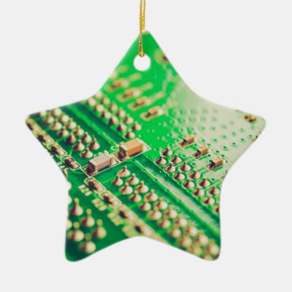 Vintage printed circuit board ceramic star decoration