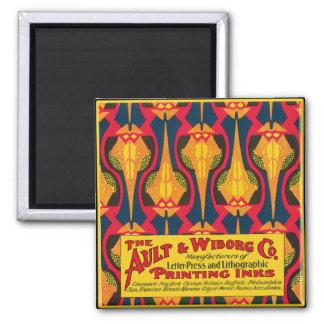 Vintage Printing Ink Advertisement Magnet