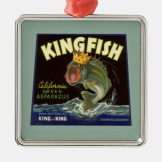 Vintage Product Can Label Art, Kingfish Asparagus Ornament