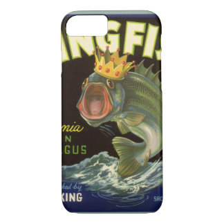 Vintage Product Can Label Art, Kingfish Asparagus iPhone 7 Case