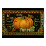 Vintage Product Label Art; Butterfly Brand Pumpkin Card