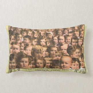 Vintage Product Label Art, Eskay's Baby Food Lumbar Pillow