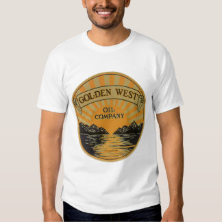 Vintage Product Label Art, Golden West Oil Company T-Shirt