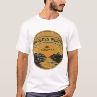 Vintage Product Label Art, Golden West Oil Company T-Shirt