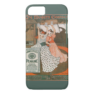 Vintage Product Label Art, Pearline Cleanser iPhone 7 Case