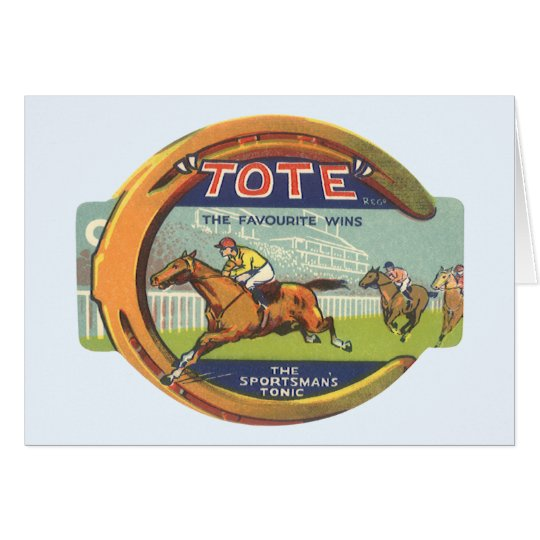 Vintage Product Label Art, Tote Sportsman's Tonic Card