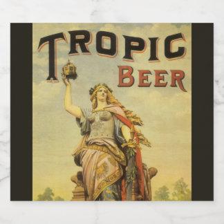 Vintage Product Label Art, Tropic Beer Gladiator