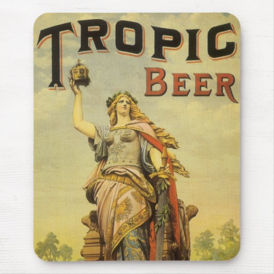 Vintage Product Label Art, Tropic Beer Gladiator Mouse Mat