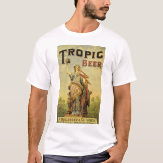 Vintage Product Label Art, Tropic Beer T-Shirt