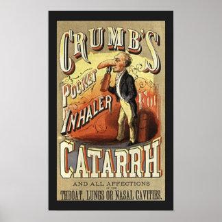 Vintage Product Label, Crumb's Pocket Inhaler Poster