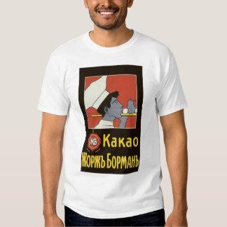 Vintage Product Label, Kakao Russian Hot Chocolate Tee Shirts