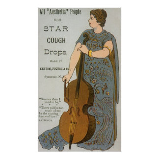 Vintage Product Label, Star Cough Drops Poster