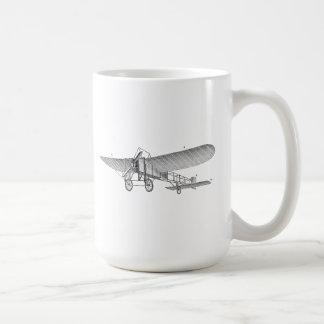 Vintage Propeller Aeroplane Retro Old Prop Plane Basic White Mug
