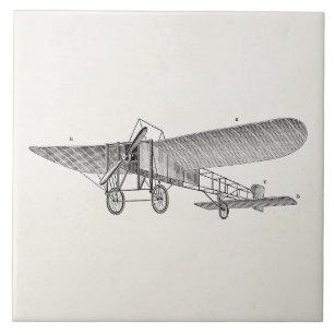 Vintage Propeller Aeroplane Retro Old Prop Plane Tile
