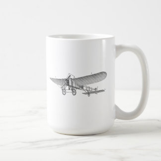 Vintage Propeller Airplane Retro Old Prop Plane Basic White Mug