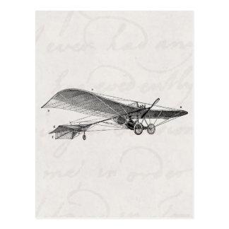 Vintage Propeller Airplane Retro Old Prop Plane Postcard