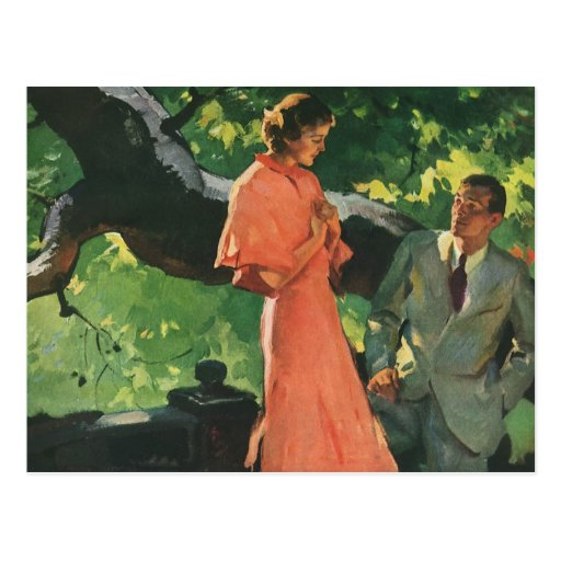 Vintage Proposal; Will You Marry Me? Post Card