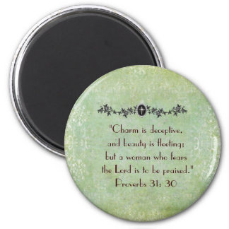 Vintage Proverbs Woman magnet
