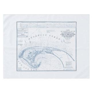 Vintage Provincetown Cape Cod Map Tablecloth