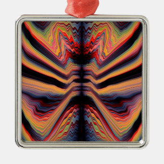 Vintage psychedelic pattern christmas ornament