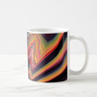 Vintage psychedelic pattern coffee mug
