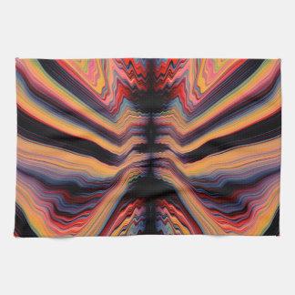 Vintage psychedelic pattern tea towel