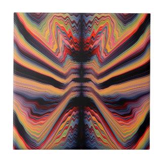 Vintage psychedelic pattern tile