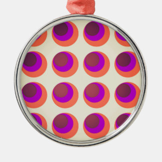 Vintage psychedelic swinging sixties background Silver-Colored round decoration