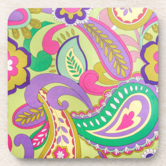 Vintage Psychedelic Texture Pattern Coasters
