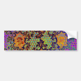 Vintage Psychedelic Wallpaper Floral Pattern Bumper Stickers