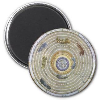 Vintage Ptolemaic Planisphere by Andreas Cellarius 6 Cm Round Magnet