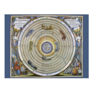Vintage Ptolemaic Planisphere by Andreas Cellarius Postcard