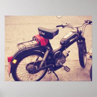 Vintage Puch MV 50 Bike. Poster