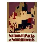 Vintage Pueblo WPA National Parks Travel Poster Postcard