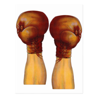 Vintage Pugulast Boxing Gloves One Two Punch Post Card